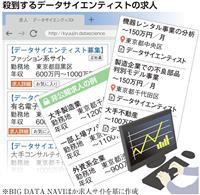 【経済インサイド】ビッグデータ分析、新卒年収は1000万円以上 東大生の人気職種に