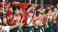 【動画あり】三十三間堂で新春恒例の通し矢 京都