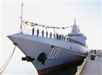 中国、新型駆逐艦就役 1万トン級「南昌」、青島で