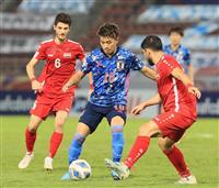 日本、2連敗で敗退決定 サッカーのU-23アジア選手権