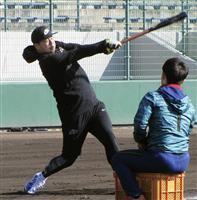 浅村、五輪出場へアピール 「楽天でいい成績残す」