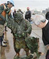 お帰り「おえびすさん」 津波で流され海底で発見
