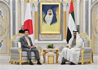 首相、アブダビ首長国皇太子と会談 中東情勢や原油供給