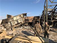 イラク駐留米軍、イランのミサイル攻撃現場を公開