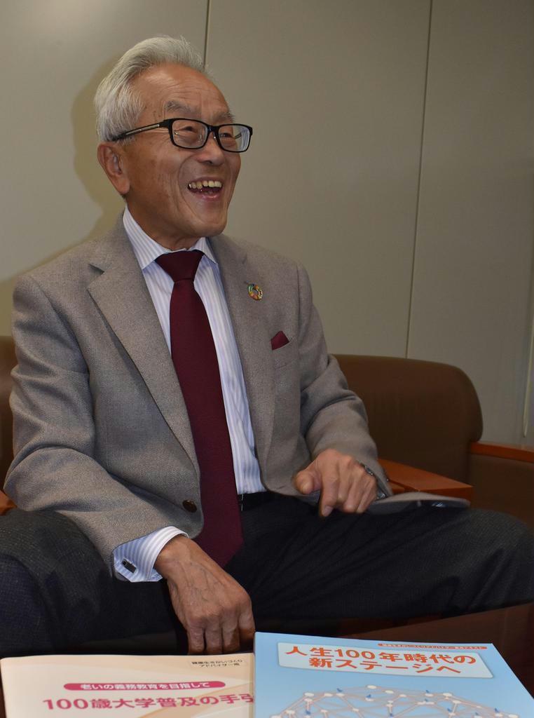 100歳大学の普及活動に奔走する元滋賀県知事の國松善次さん