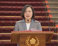 台湾・蔡総統、中国と無条件対話を要求 反浸透法に署名