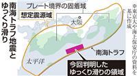 南海トラフでゆっくり滑り観測 地震発生の仕組み解明へ