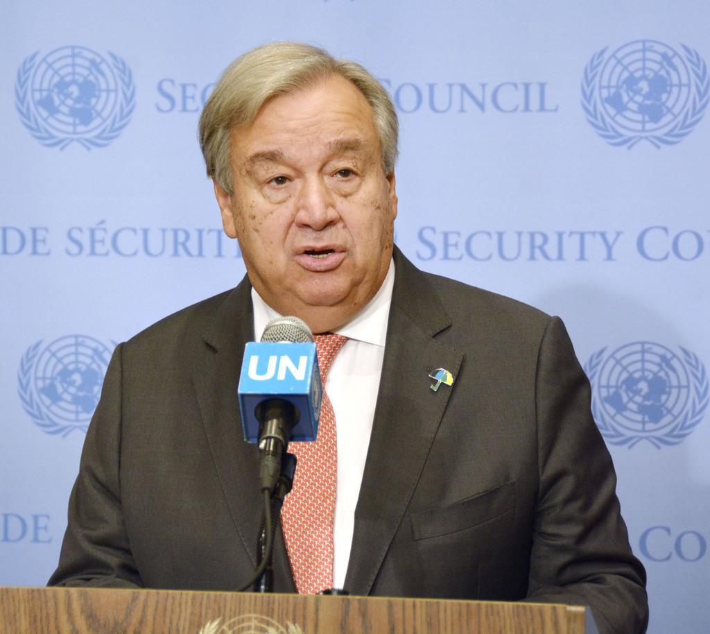 国連のグテレス事務総長(共同)