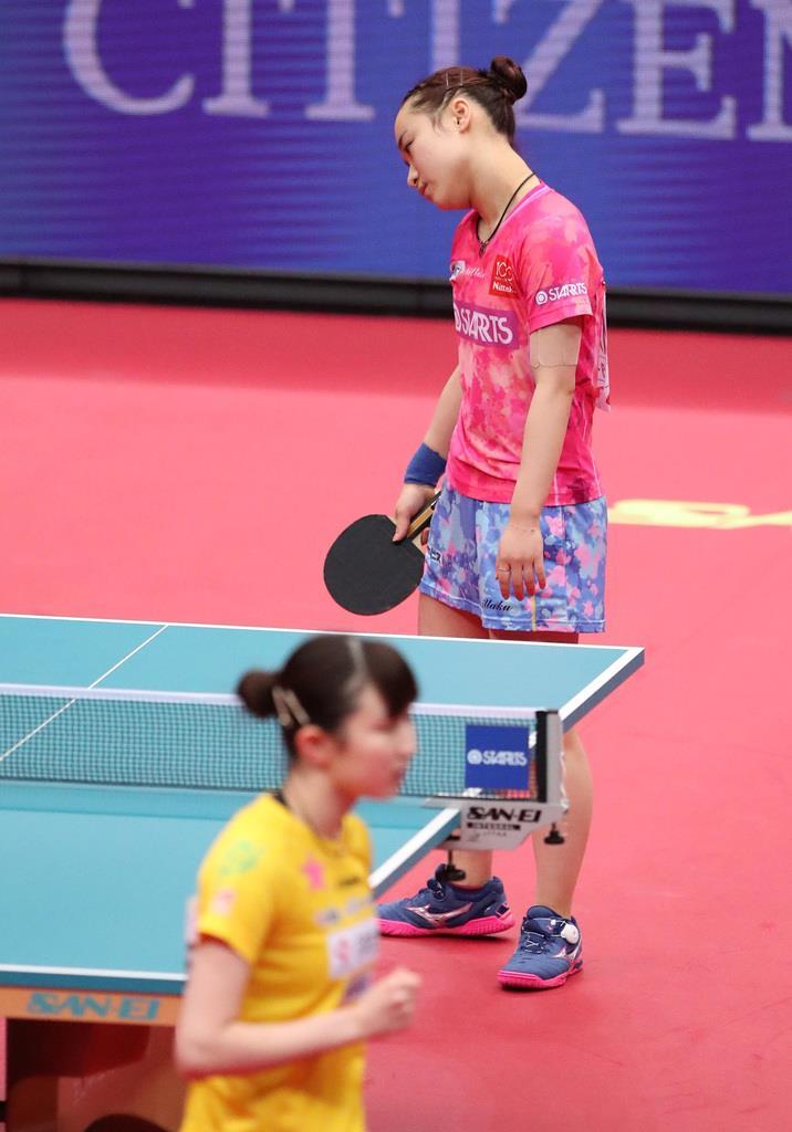 早田が女子単初優勝、2冠 卓球全日本選手権最終日