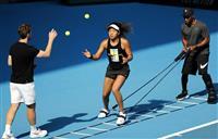 大坂、初戦の舞台で調整 全豪テニス、20日開幕