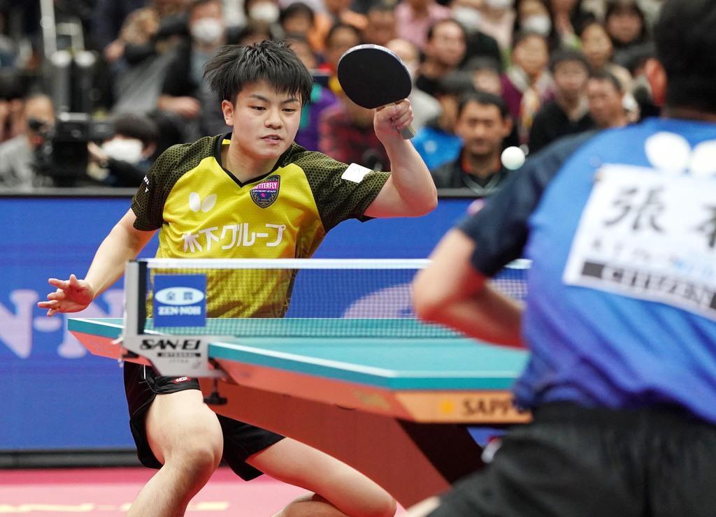 男子で初優勝の宇田、張本を下し「自信になる」