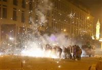 デモ衝突で160人負傷 レバノン、テント放火も