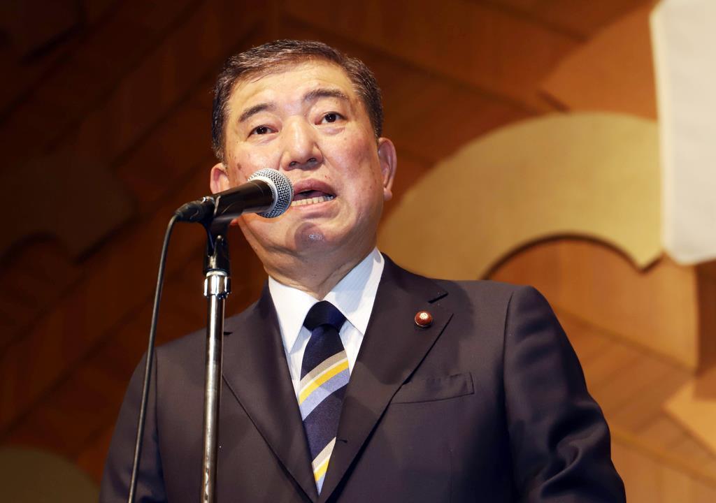 石破氏、「桜触れぬ」首相演説、「私なら違う」