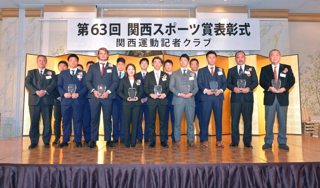 昨夏優勝の履正社高野球部、選抜にも意欲 関西スポーツ賞授賞式