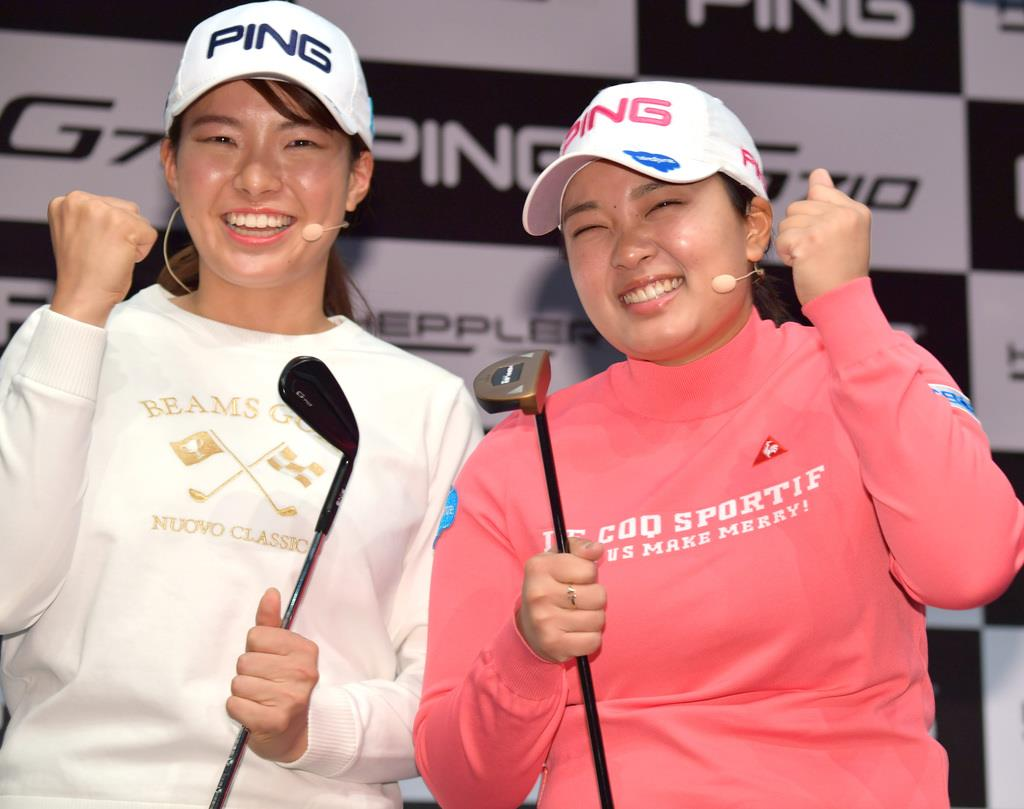 ゴルフ渋野日向子と鈴木愛が意欲 五輪へ「全力で」「特別な大会…