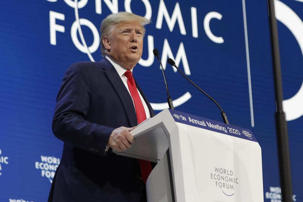 「米国モデルは手本」米大統領、自由経済の盟主誓う ダボス会議…