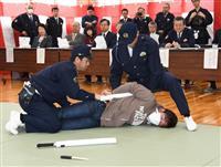 警察官、気迫の真剣勝負 洲本署で柔剣道や逮捕術を披露