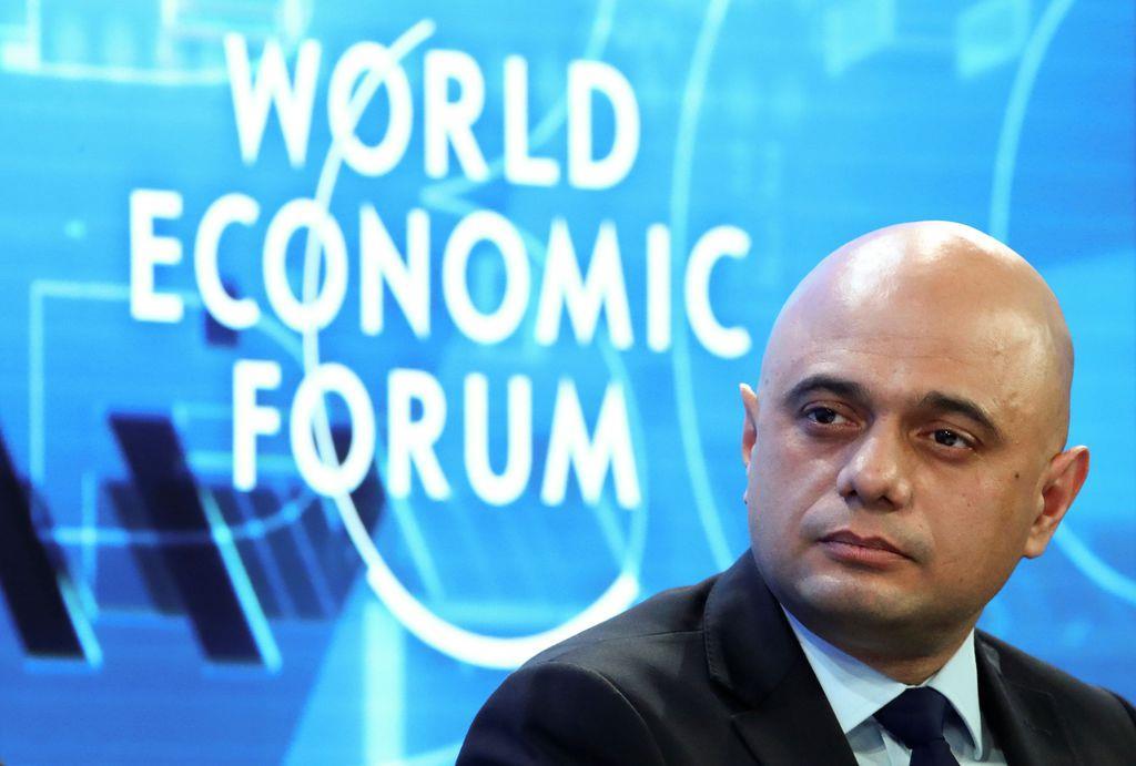 22日、世界経済フォーラム年次総会に出席した英国のジャビド財務相(ロイター)