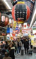 新型肺炎 「対応しようがない」春節前に大阪・ミナミで不安の声