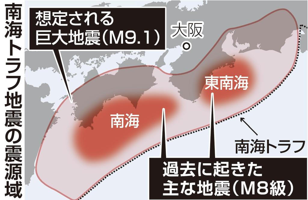 現実路線で防災対策促す 政府の南海トラフ津波確率