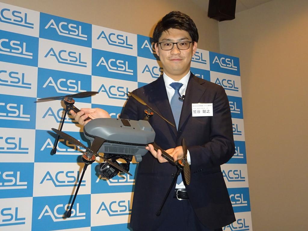屋内でも安定飛行 千葉大発のベンチャーが小型産業用ドローン発…