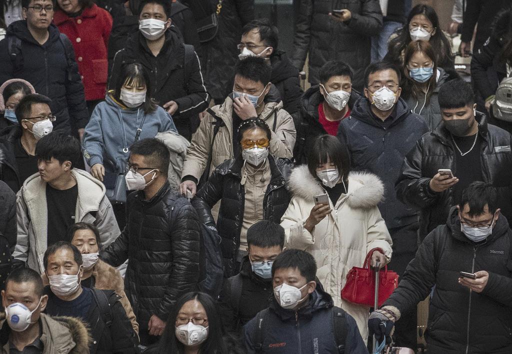 新型肺炎 北京駅はマスク9割 中国、厳戒下で春節連休