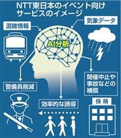 NTT東、混雑予測を商用化 IoTでイベント運営円滑に