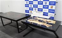 机に覚醒剤練り込み輸入か 暴力団組員の男ら2人逮捕
