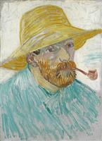 【ゴッホ展 作品連載(4)】「パイプと麦藁帽子の自画像」描きたかった人物画