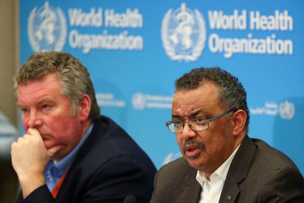 会見する世界保健機関(WHO)のテドロス事務局長(ロイター)