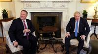 ジョンソン英首相とポンペオ米国務長官が会談 ファーウェイ製品の使用について協議