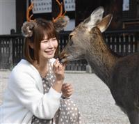 奈良で大人気「鹿のカチューシャ」 仕掛け人は元グラドル