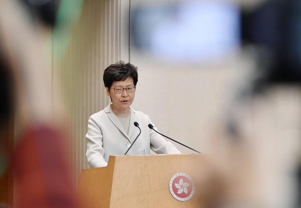 香港政府トップの林鄭月娥行政長官(共同)