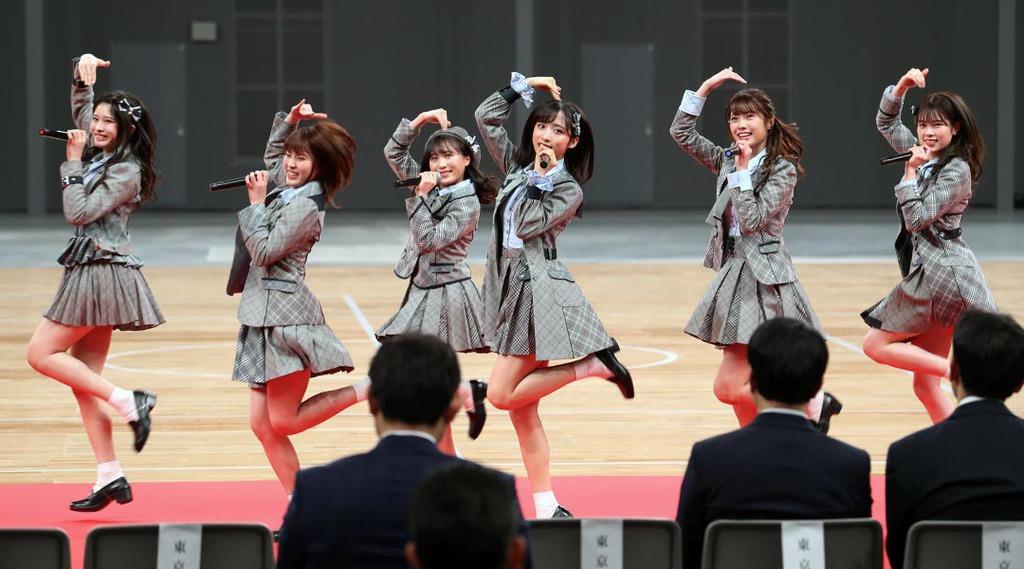 東京五輪 有明アリーナ完成披露式典に大歓声