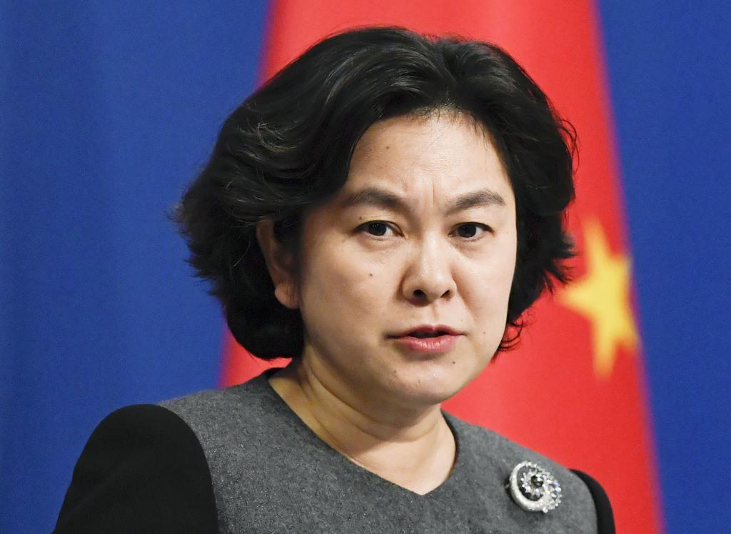 中国外務省の華春瑩氏=北京(共同)