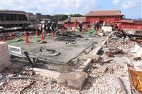 首里城、全焼の正殿公開 捜査終結「見せる再建」へ
