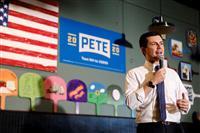 米大統領選 アイオワ優勢のブティジェッジ氏「無名候補がレースの先頭に」