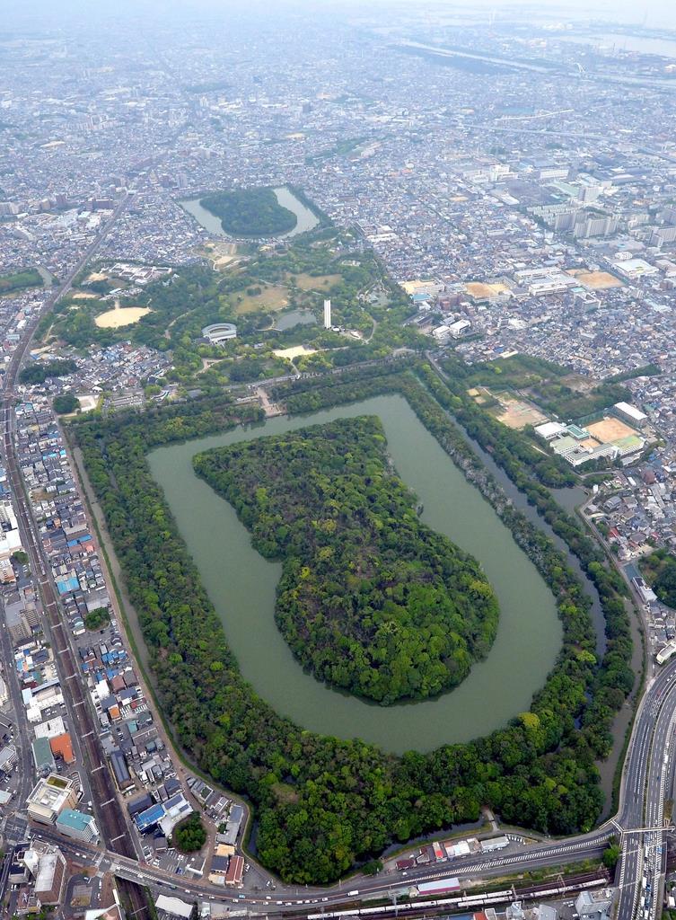 ビッグな仁徳陵 空から大きさ体感 堺市が百舌鳥・古市古墳群周辺整備に3億7千万円