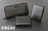 漆黒の幾何学模様が醸し出す高級感。FRUH(フリュー)リアルカーボン財布