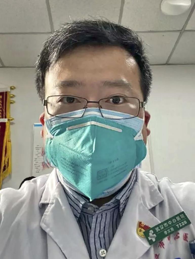 中国中央テレビ電子版が報じた李文亮さんの写真(共同)