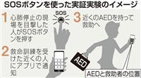町中に心肺停止SOSボタンを設置 大阪で実証実験へ