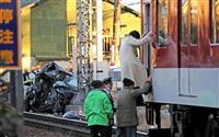 【動画】近鉄南大阪線で準急と軽乗用車が衝突 運転手の男性死亡 大阪・松原市