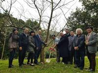 台湾で昭和天皇ゆかりの桜の苗木贈呈式