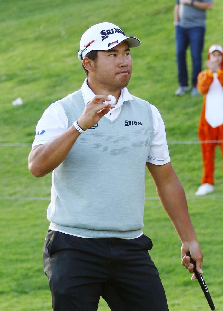 松山が手を引っ張られて痛み 米男子ゴルフのジェネシス招待第2…