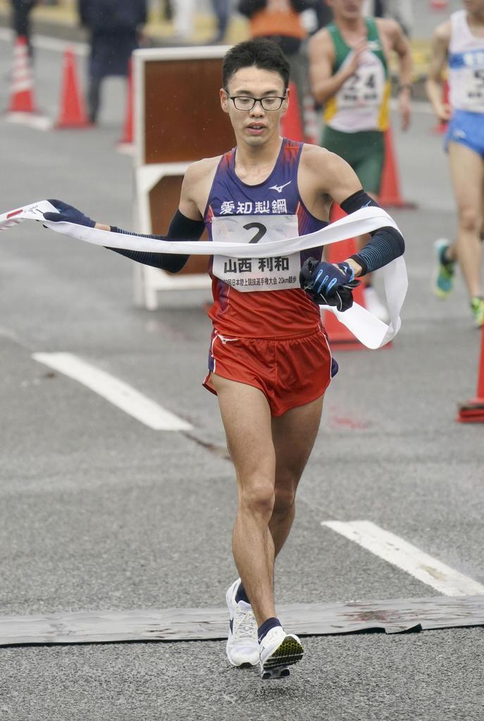 男子は山西が初優勝 日本選手権競歩20キロ
