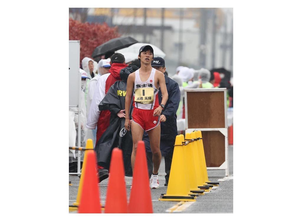 日本選手権20キロ競歩でミス 高橋の警告回数を誤表示
