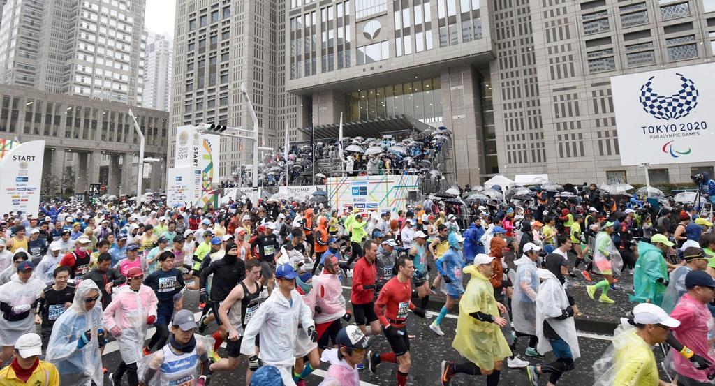 東京マラソン 一般参加者は出走取りやめ 代表選考会兼ねるエリ…