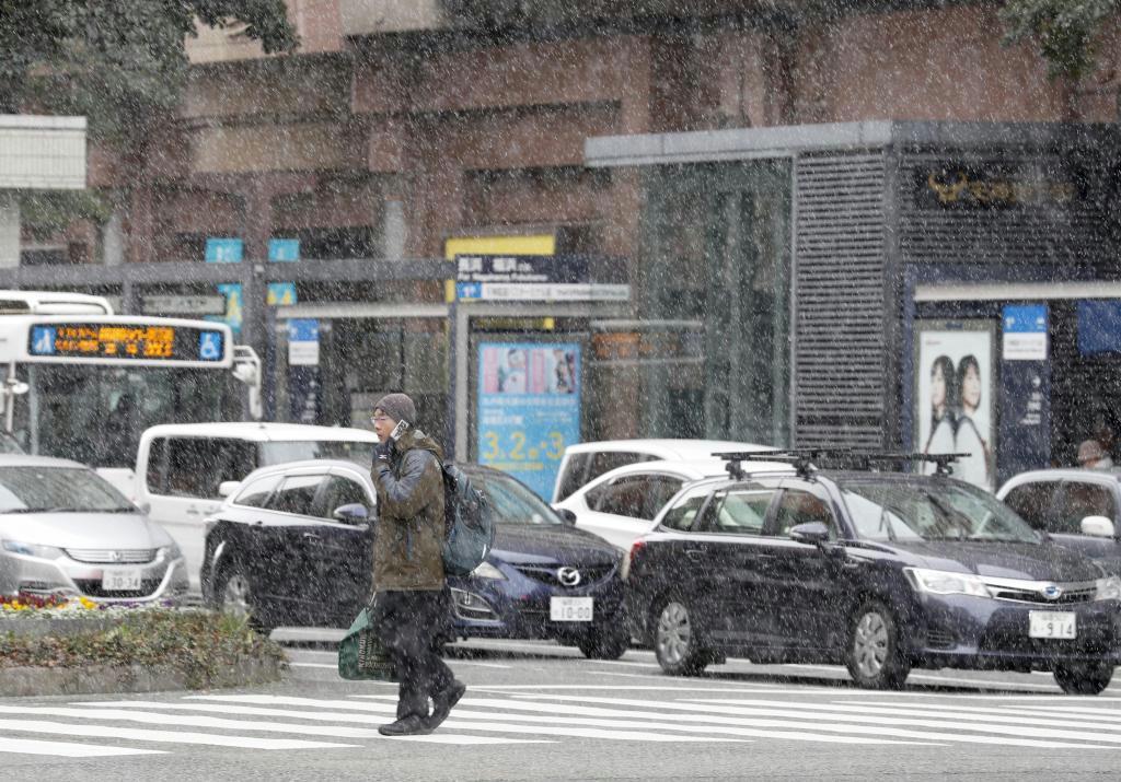 福岡・大分で初雪