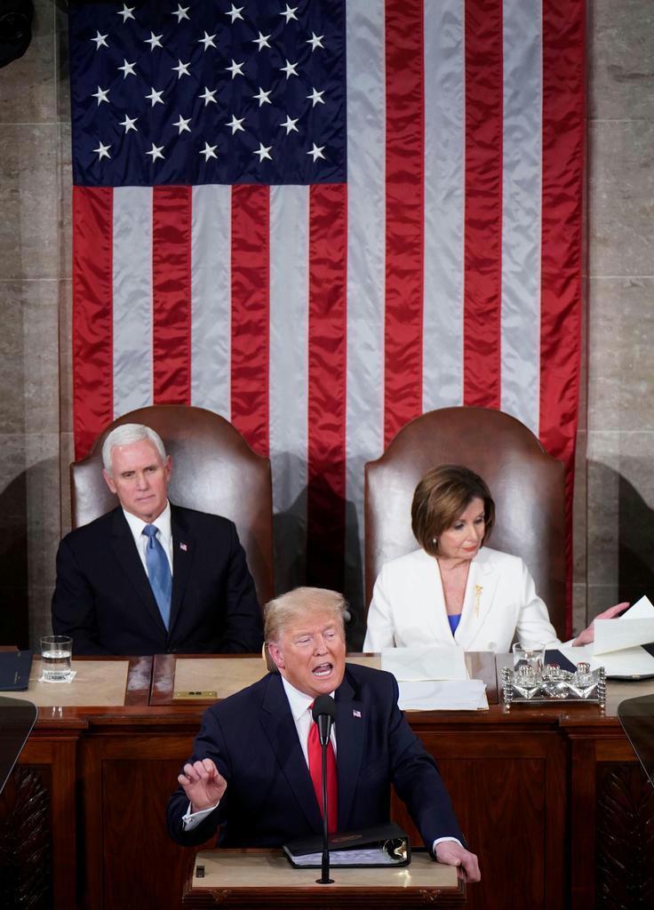 【社説検証】米大統領の一般教書演説 産経は「同盟国軽視に不満」 「できの悪いドラマ」と…