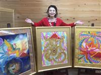 あいはら友子さん絵画展をPR、産経水戸支局訪問